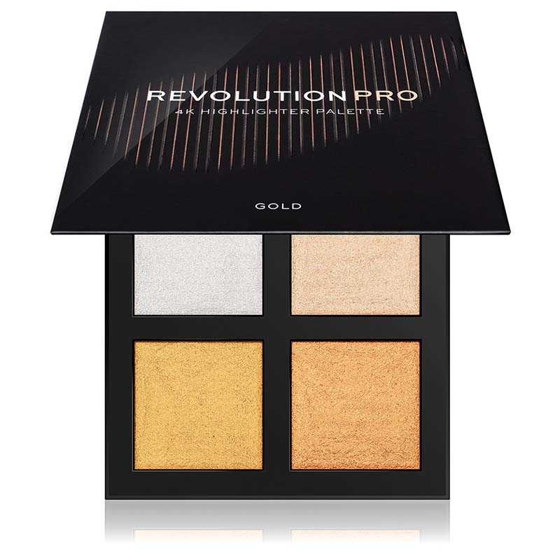 iluminator compact-4K Highlighter Palette-Gold Makeup Revolution PRO